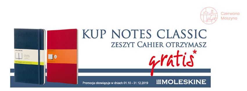 Zeszyt Moleskine Cahier GRATIS
