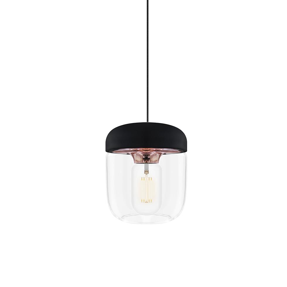 Lampa wisz±ca Umage Acorn (dawniej Vita Copenhagen)  14 cm, czarno - miedziana