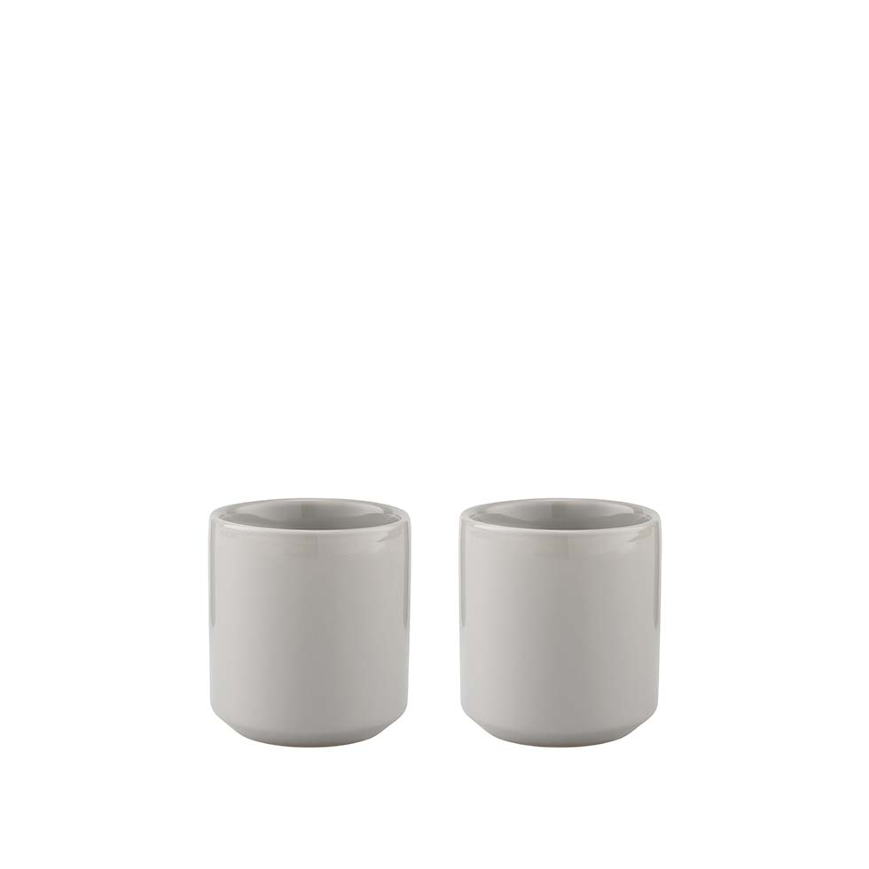 2 kubki Stelton Core 200 ml, light grey