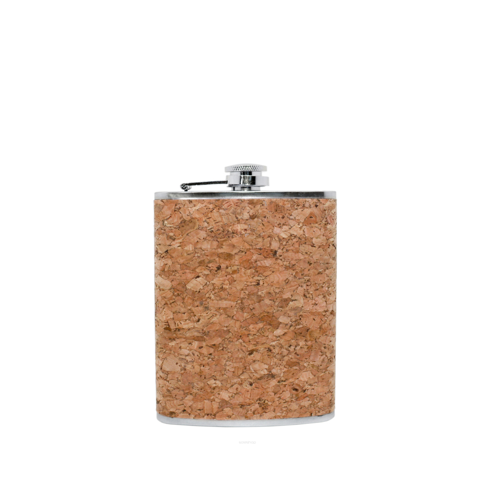 Piersiówka z lejkiem Vin Bouqet 237 ml, korek naturalny