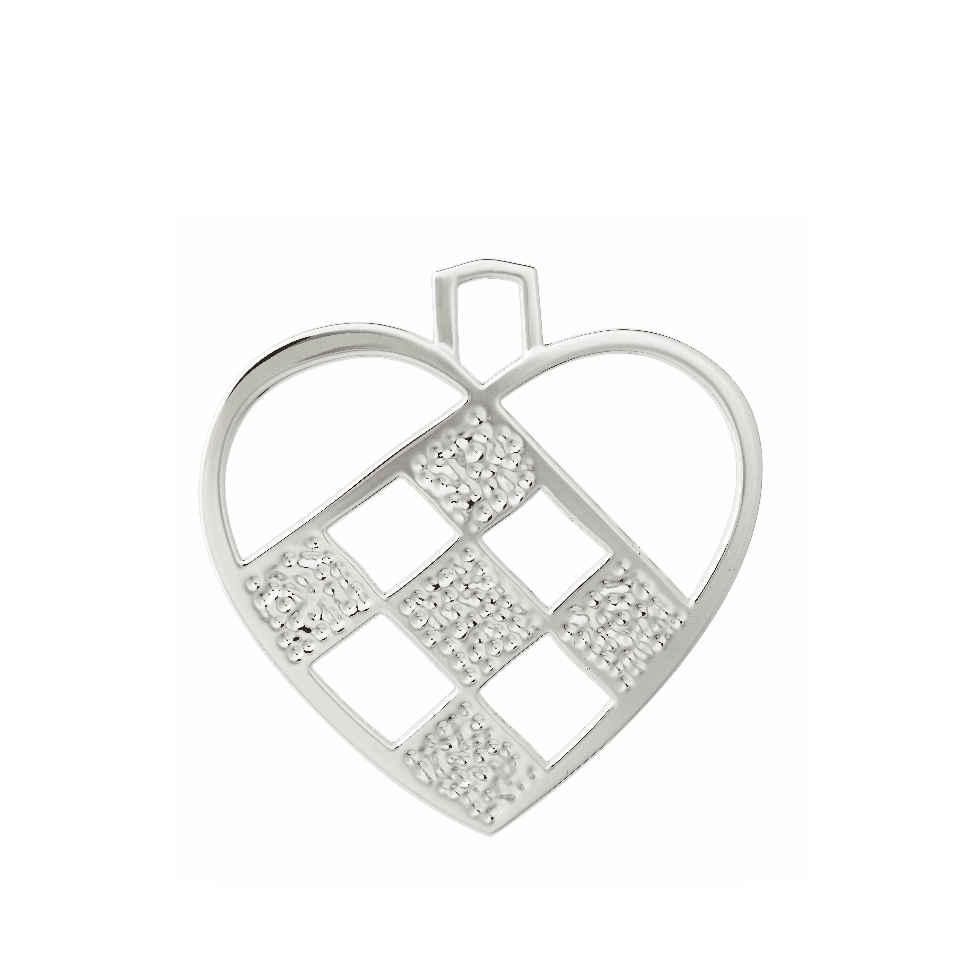 Zawieszka Rosendahl Karen Blixen Heart h 12 cm, srebrna