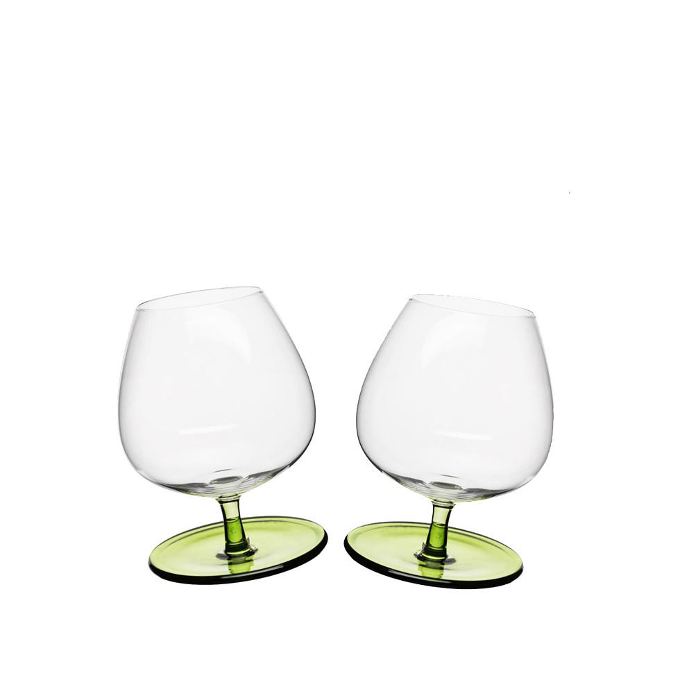 2 Kieliszki do brandy Sagaform Bar 400 ml, zielone
