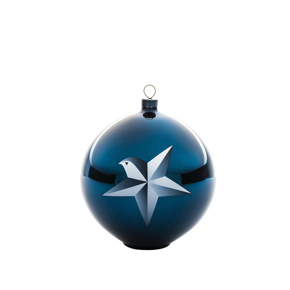 Bombka na choinkê A di Alessi Blue Christmas gwiazda betlejemska