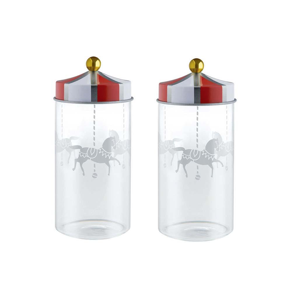 2 pojemniki kuchenne Alessi Circus 140 ml