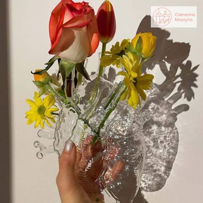 Wazon serce Seletti Love in bloom, przezroczysty