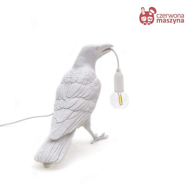 Lampa stojąca Seletti Bird Waiting outdoor, biała