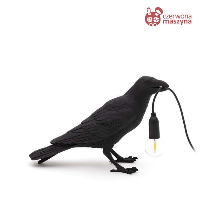 Lampa stojąca Seletti Bird Waiting outdoor, czarna