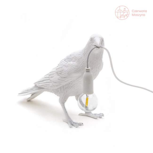 Lampa stojąca Seletti Bird Waiting, biała