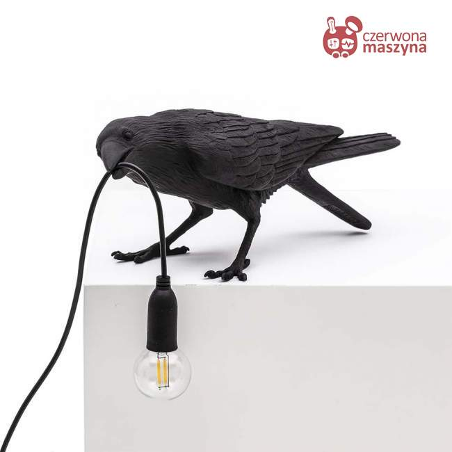 Lampa Seletti Bird Playing, czarna