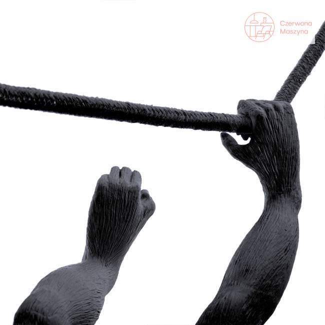 Lampa wisząca Seletti Monkey Swing indoor / outdoor, czarna