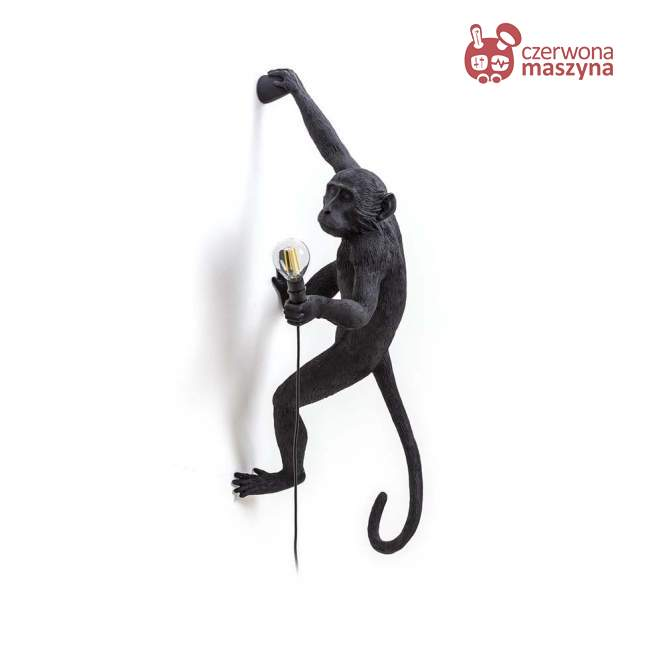 Kinkiet Seletti Monkey Hanging indoor / outdoor, czarny