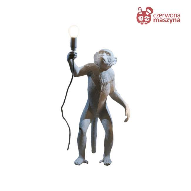 Lampa stołowa Seletti Monkey Standing outdoor biała