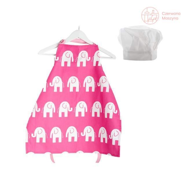Fartuszek i czapka kucharska Zuzu Toys Różowe Słonie 7 - 9 lat