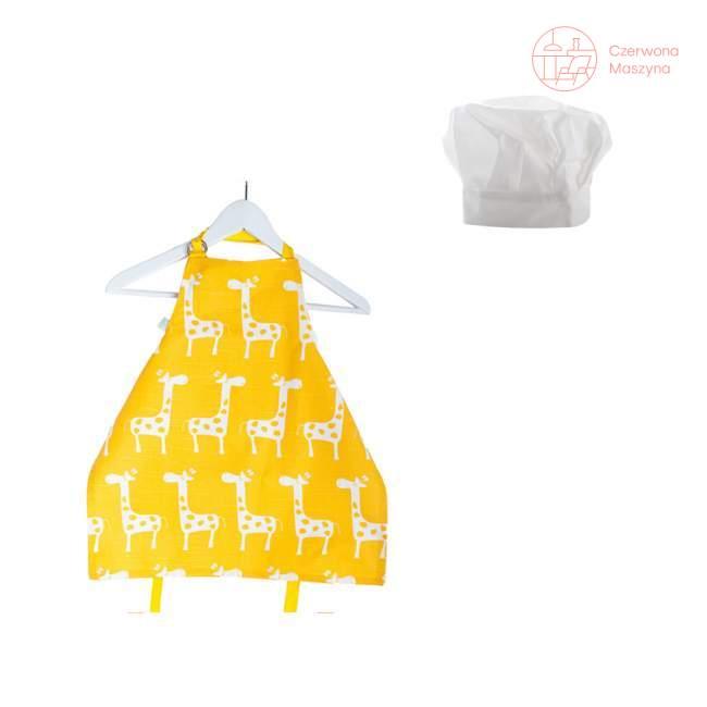 Fartuszek i czapka kucharska Zuzu Toys Żółte Żyrafy 1-2 lata