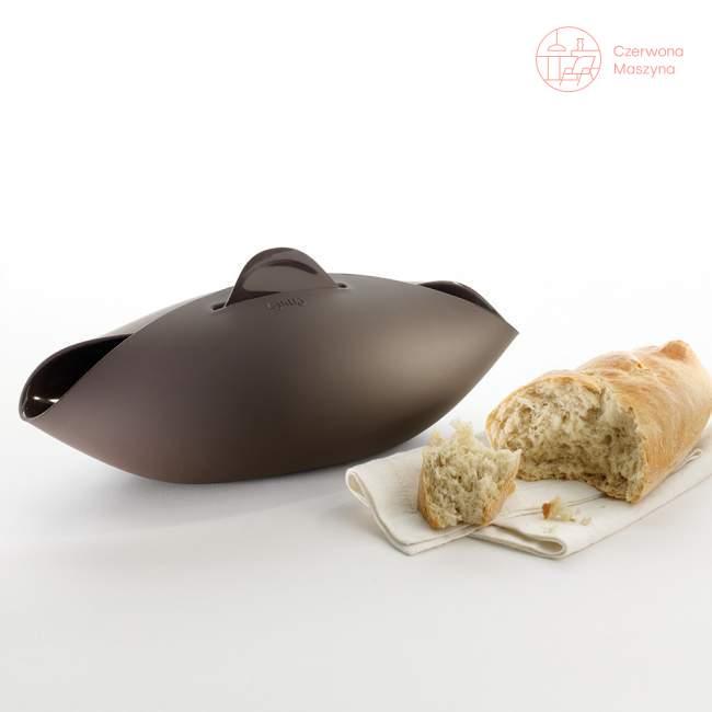 Naczynie do pieczenia chleba Lékué Steam Roaster 32 cm, brązowe