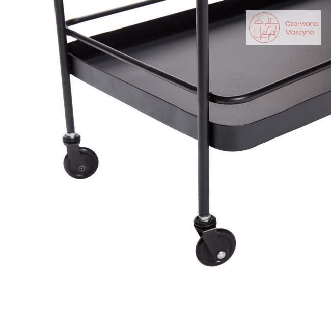 Wózek metalowy Hübsch Let, czarny