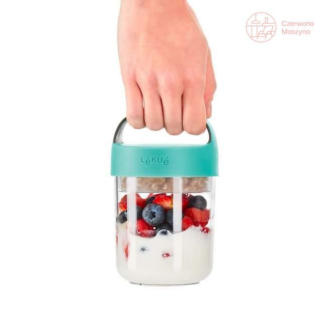 Pojemnik na lunch Lekue Jar to Go, róż 400 ml