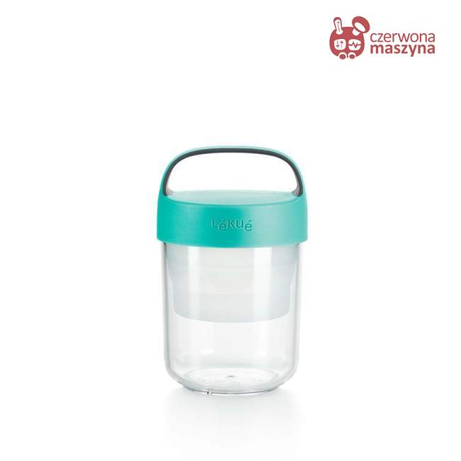 Pojemnik na lunch Lekue Jar to Go, turkus 400 ml