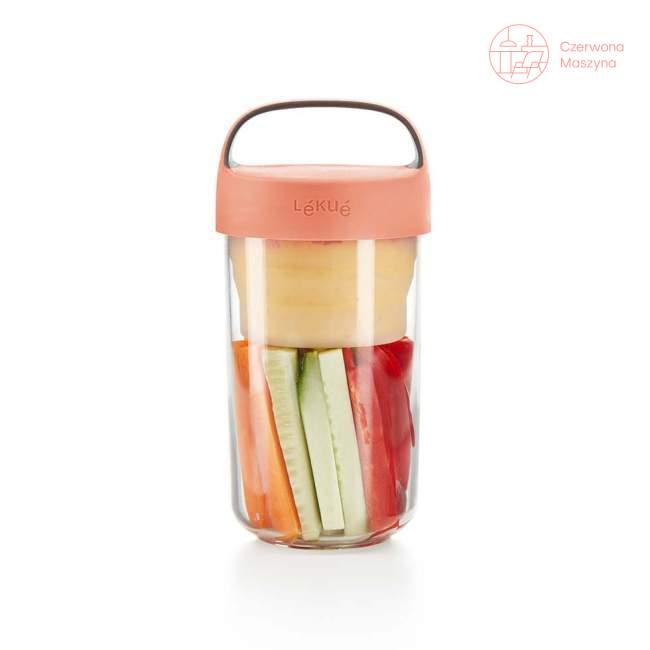 Pojemnik na lunch Lekue Jar to Go, róż 600 ml