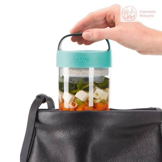 Pojemnik na lunch Lekue Jar to Go, turkus 600 ml