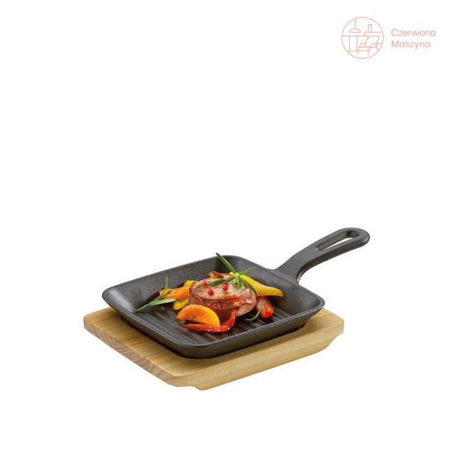 Mini patelnia grillowa do serwowania z podstawką Küchenprofi