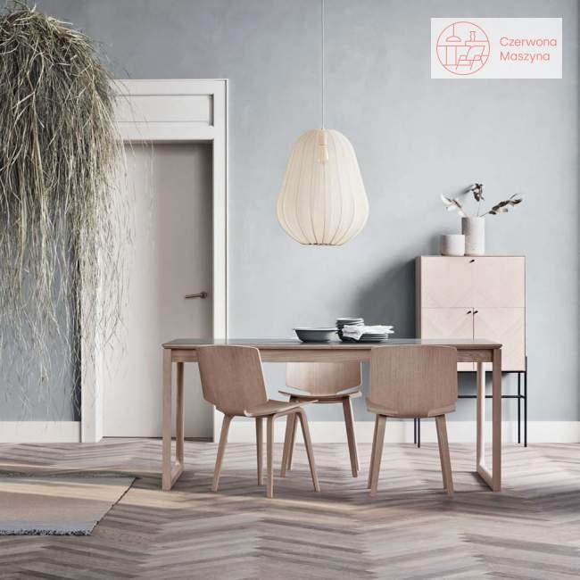 Komoda Bolia Luxe, 125 cm, white oiled oak