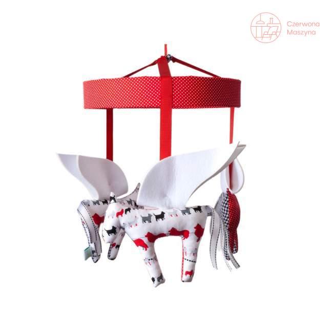 Karuzela Zuzu Toys Pegazy biało-czarno-czerwone