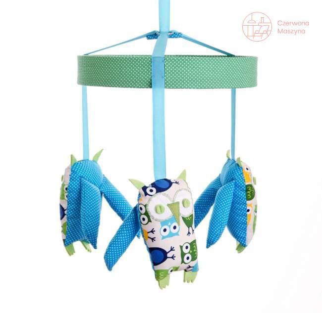 Karuzela Zuzu Toys Sowy zielono niebieskie