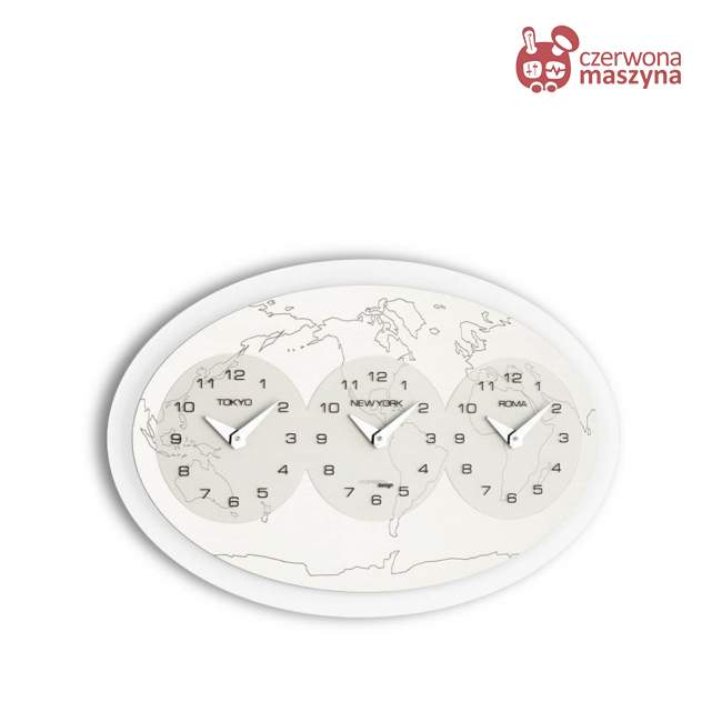 Zegar ścienny Incantesimo Design Tre Ore nel Mondo 45 x 28 cm