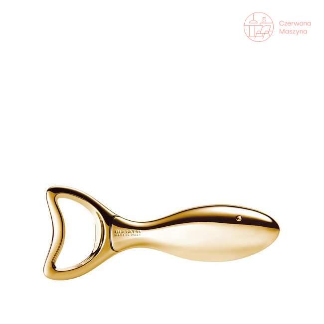 Otwieracz do butelek Bugatti Lino, złoty 24 karaty