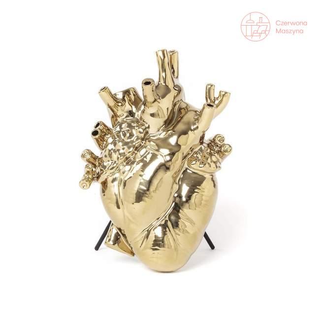 Wazon serce Seletti Love In Bloom, gold