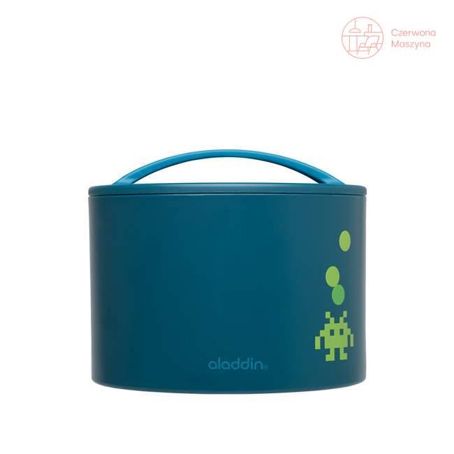 Pojemnik do odgrzewania Aladdin Kids 0,6 l, niebieski z nadrukiem