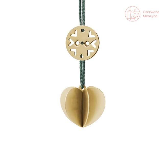 Zawieszka świąteczna Stelton Nordic serce, złota