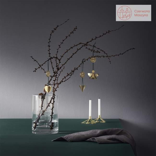 Zawieszka świąteczna Stelton Nordic rożek, złota