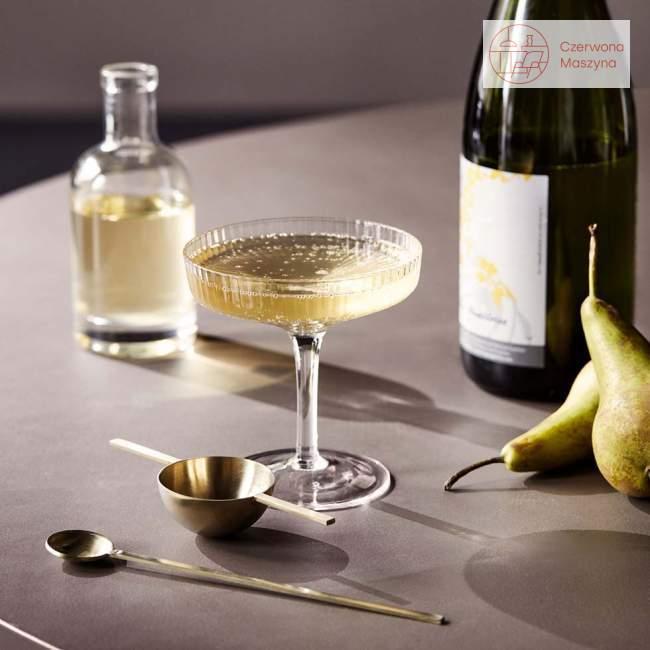 2 kieliszki do szampana ferm LIVING Ripple, smoked grey