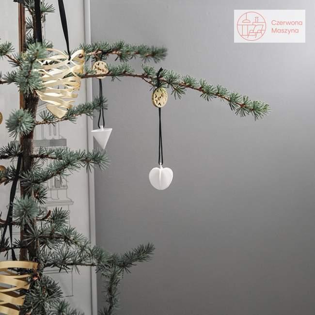 Zawieszka świąteczna Stelton Nordic rożek, biała