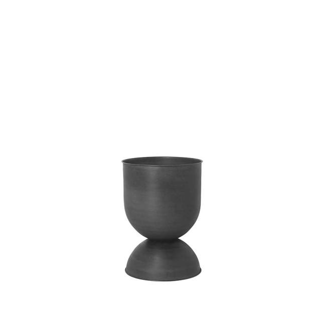 Doniczka Ferm Living Hourglass Ø 41, czarna