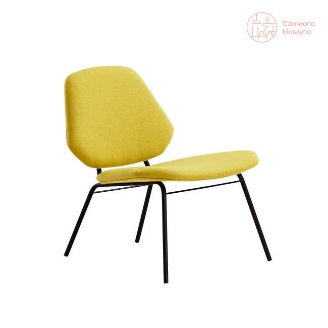 Fotel Woud Lean Lounge żółty