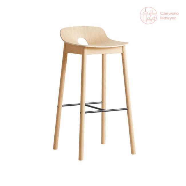 Krzesło barowe Woud Mono 75 cm, jasne drewno
