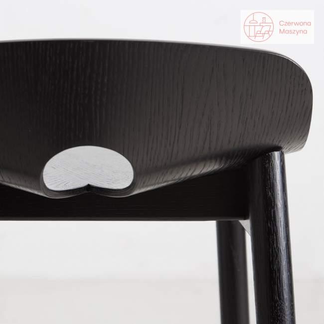 Krzesło barowe Woud Mono 75 cm, czarne