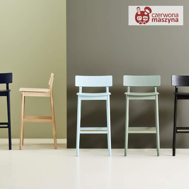 Krzesło barowe Woud Pause 65 cm, zielone
