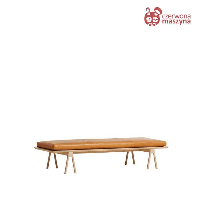 Leżanka Woud Level Camo Silk koniakowa
