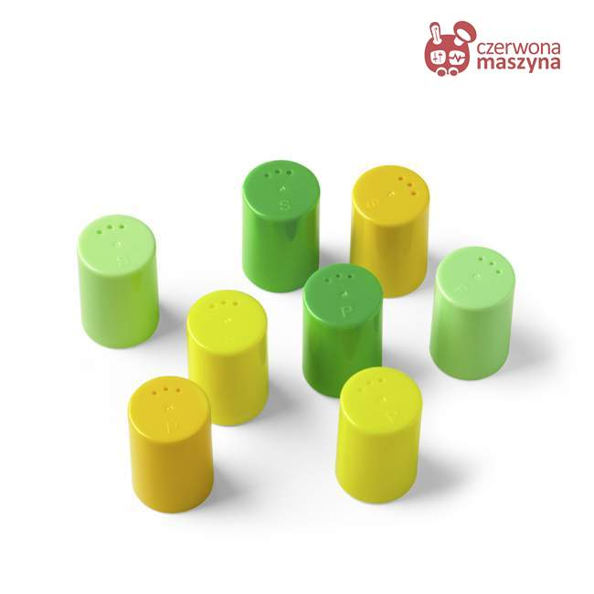 8 Pojemniczków do soli i pieprzu Authentics Eiko zielono - żółte