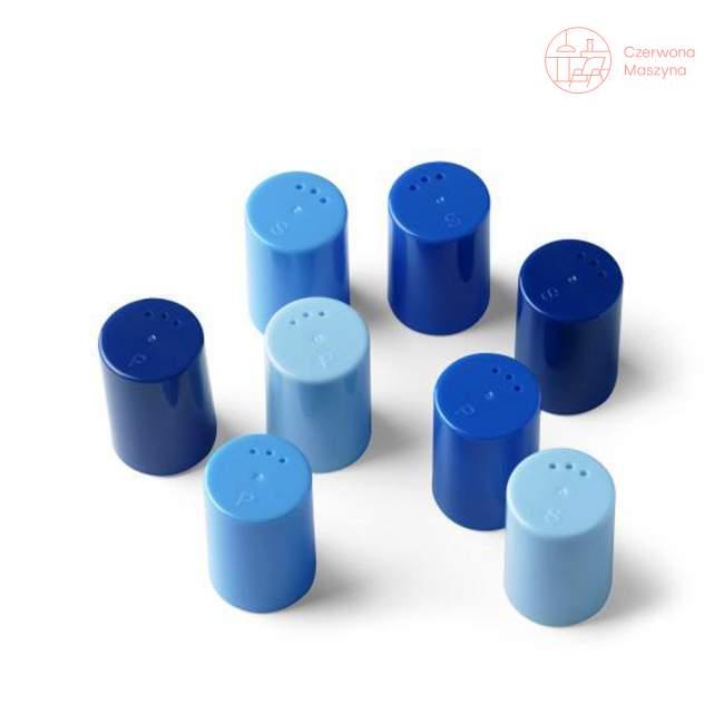 8 Pojemniczków do soli i pieprzu Authentics Eiko niebieskie