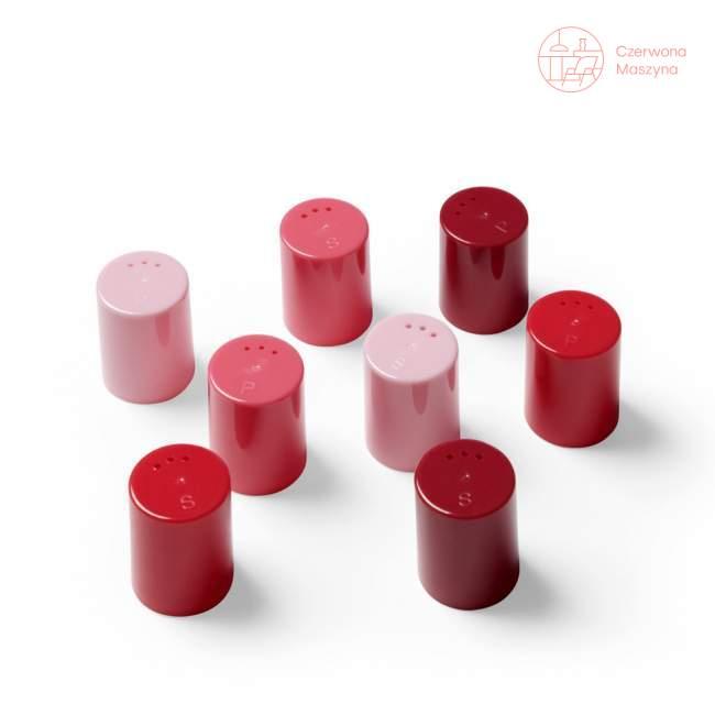 8 Pojemniczków do soli i pieprzu Authentics Eiko różowo - czerwone