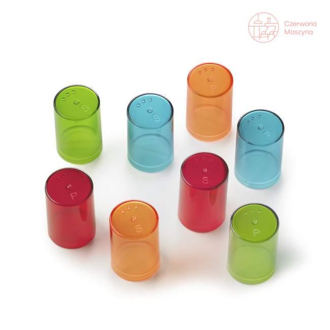 8 Pojemniczków do soli i pieprzu Authentics Eiko kolorowe przezroczyste 1