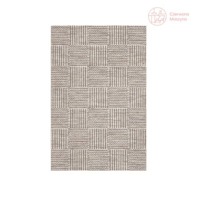 Chodnik Linie Design Chess Light Grey 90 x 160 cm