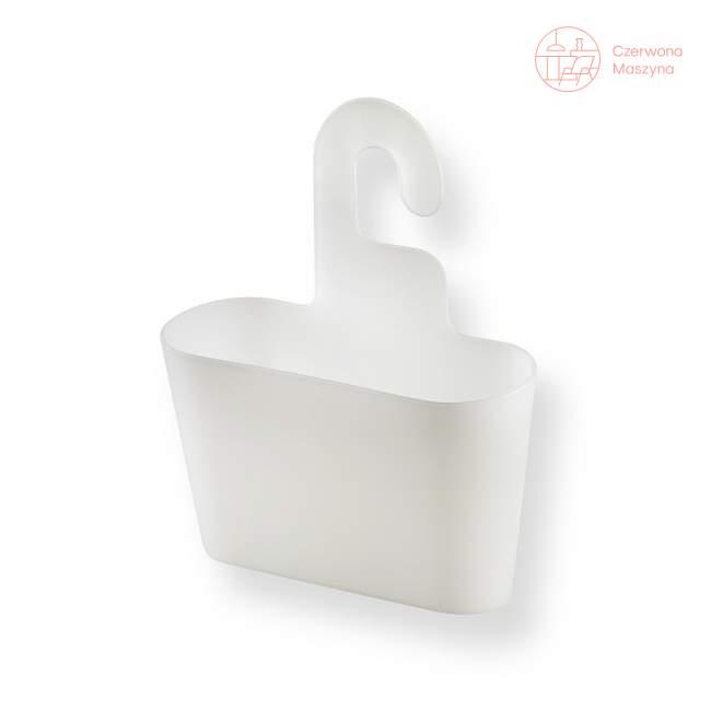 Pojemnik łazienkowy Authentics Basics biały przezroczysty, wiszący