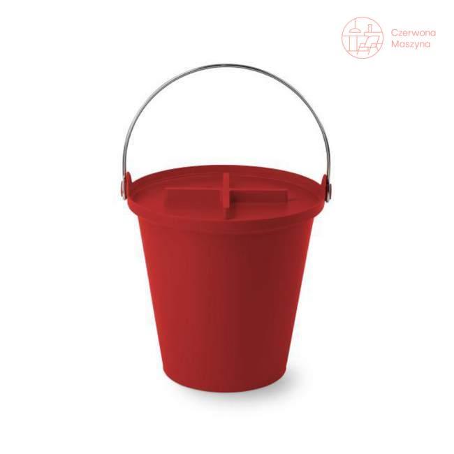 Kosz na śmieci Authentics H2O - 13 l, czerwony
