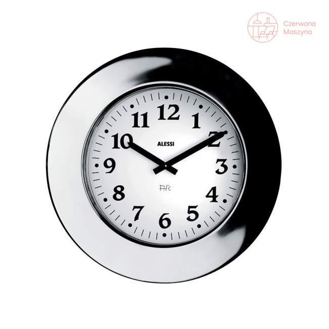 Zegar ścienny Alessi Momento srebrny